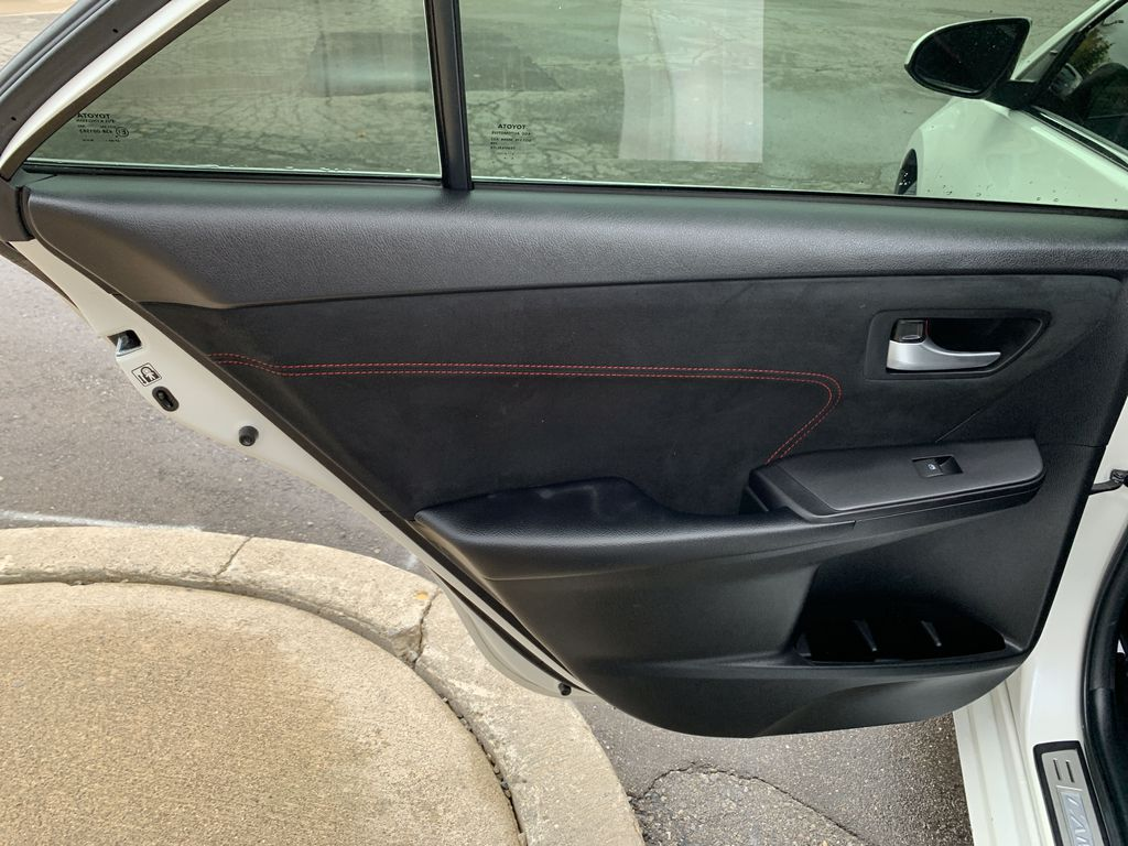 White 2017 Toyota Camry Left Side Rear Seat  Photo in Brampton ON