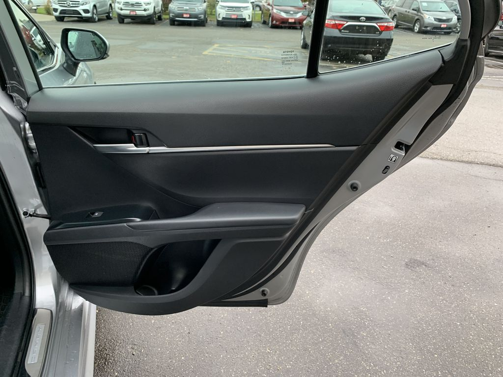 Silver 2019 Toyota Camry Left Rear Corner Photo in Brampton ON