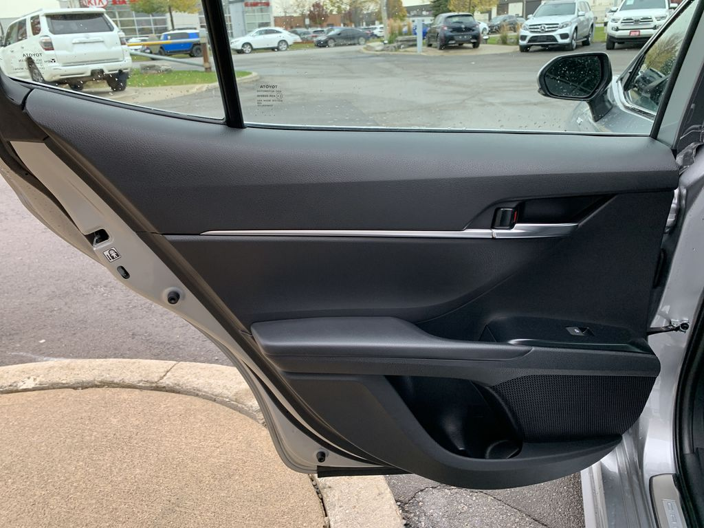 Silver 2019 Toyota Camry Left Side Rear Seat  Photo in Brampton ON