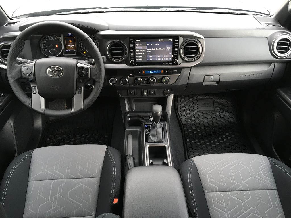 Magnetic Grey Metallic 2021 Toyota Tacoma TRD Sport Main Interior Photo in Kelowna BC