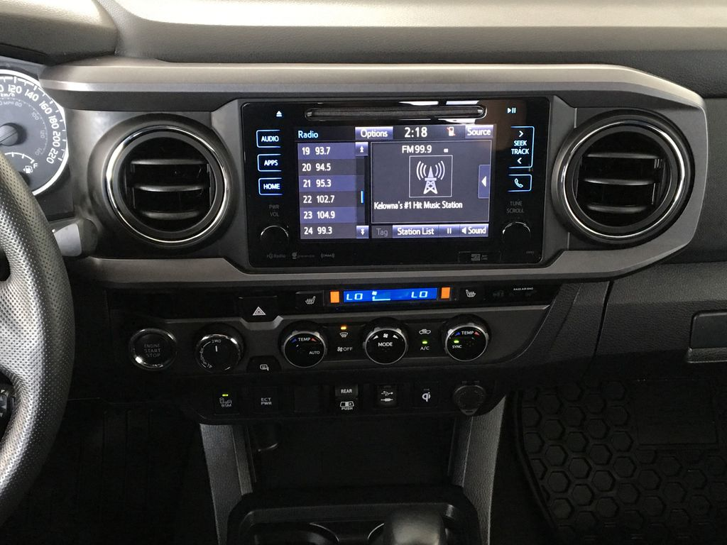 Gray[Cement Grey Metallic] 2018 Toyota Tacoma TRD Sport Central Dash Options Photo in Kelowna BC