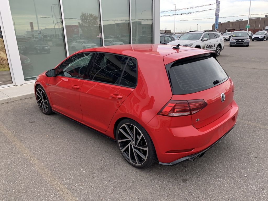 Red 2018 Volkswagen Golf R Left Front Rim and Tire Photo in Lethbridge AB