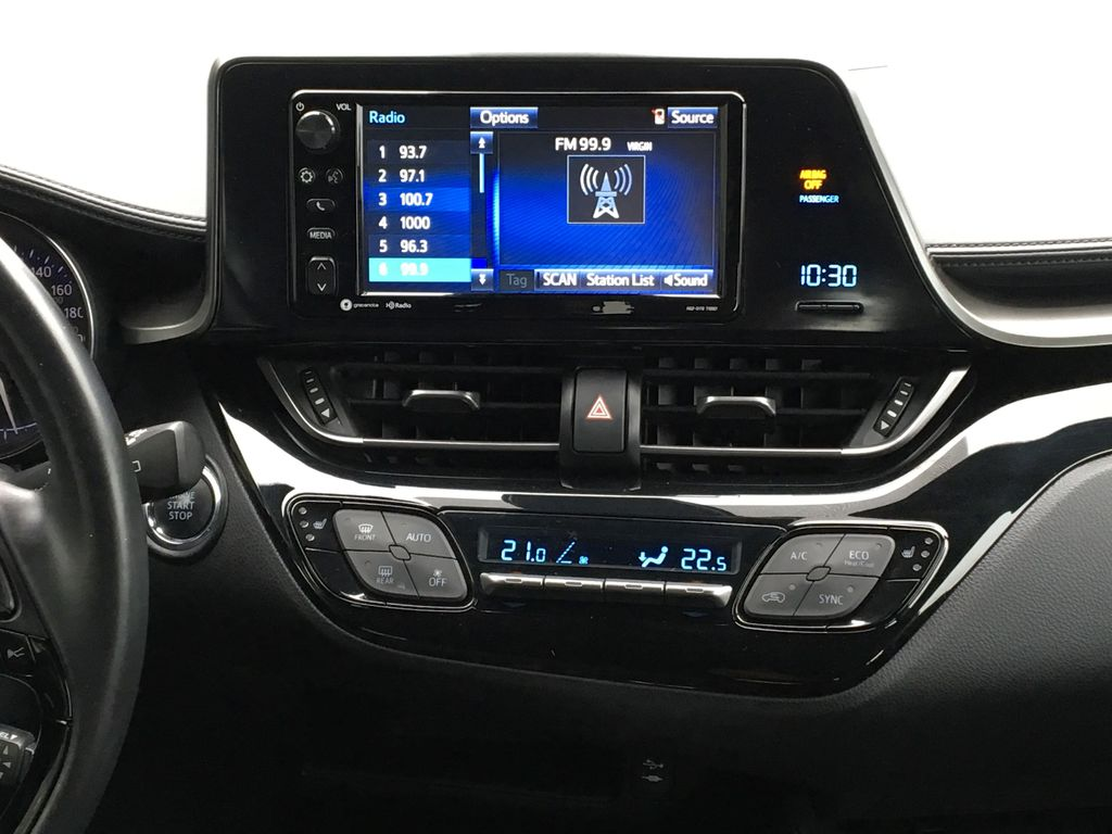 Blue Eclipse Metallic 2018 Toyota C-HR Central Dash Options Photo in Kelowna BC