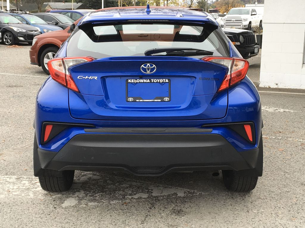 Blue Eclipse Metallic 2018 Toyota C-HR Rear of Vehicle Photo in Kelowna BC