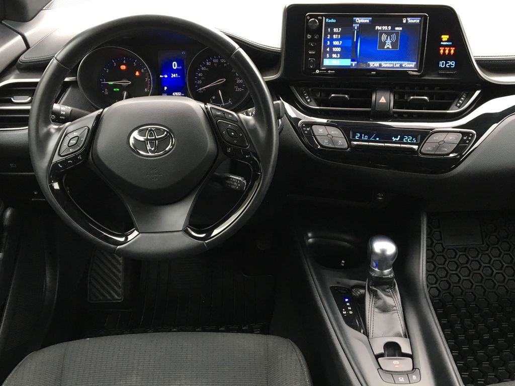Blue Eclipse Metallic 2018 Toyota C-HR Steering Wheel and Dash Photo in Kelowna BC
