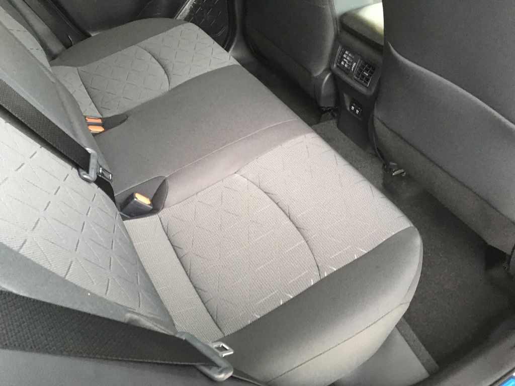 White[Super White] 2021 Toyota RAV4 XLE Left Side Rear Seat  Photo in Kelowna BC