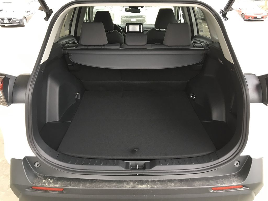 White[Super White] 2021 Toyota RAV4 XLE Trunk / Cargo Area Photo in Kelowna BC