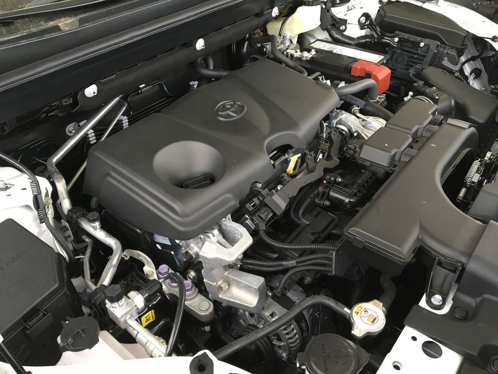 White[Super White] 2021 Toyota RAV4 XLE Engine Compartment Photo in Kelowna BC