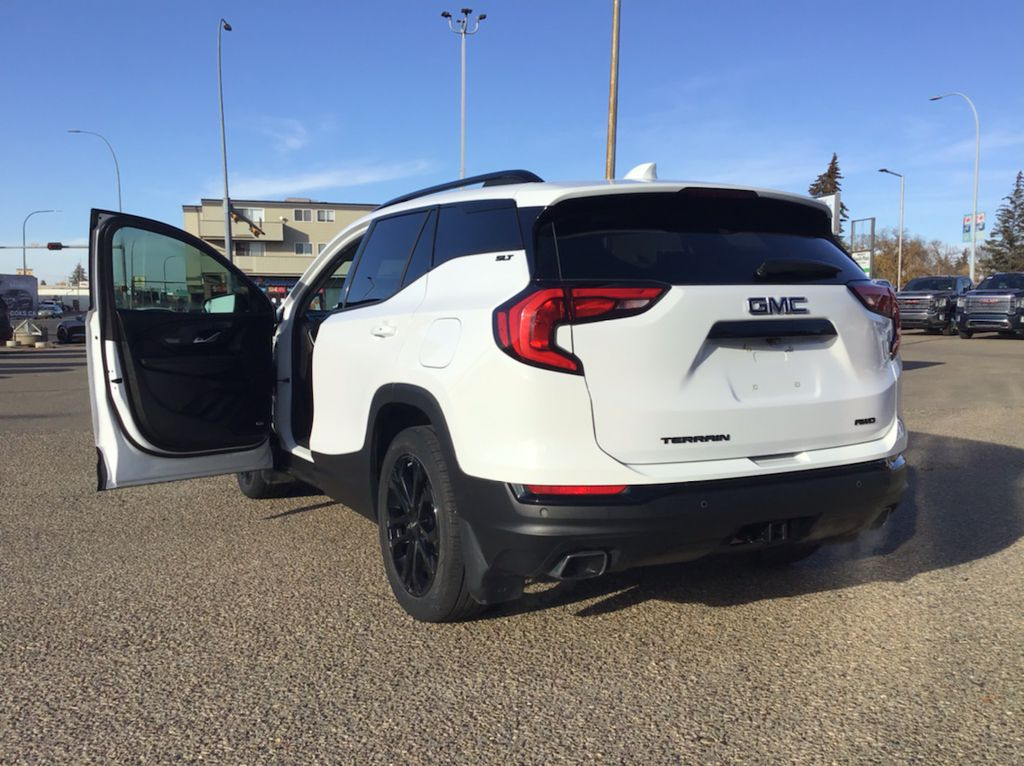 White 2019 GMC Terrain Left Front Rim and Tire Photo in Brooks AB