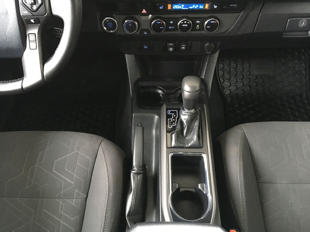 Gray[Cement Grey Metallic] 2018 Toyota Tacoma TRD Off Road Center Console Photo in Kelowna BC