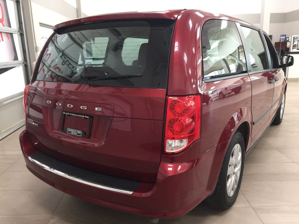 Red[Deep Cherry Red Crystal Pearl] 2016 Dodge Grand Caravan CVP Right Rear Corner Photo in Sherwood Park AB