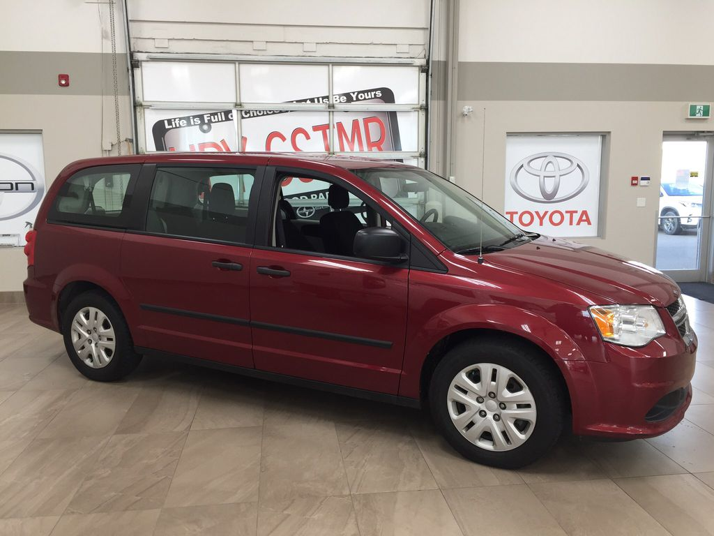 Red[Deep Cherry Red Crystal Pearl] 2016 Dodge Grand Caravan CVP Right Side Photo in Sherwood Park AB