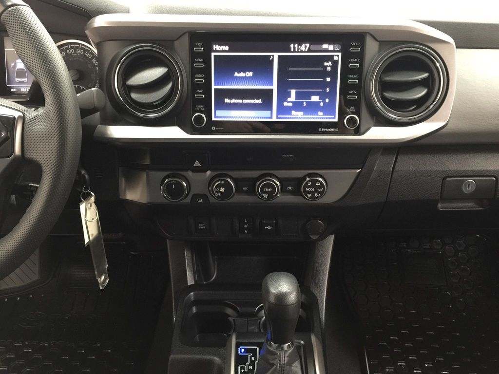Gray[Magnetic Grey Metallic] 2020 Toyota Tacoma SR5 Central Dash Options Photo in Sherwood Park AB