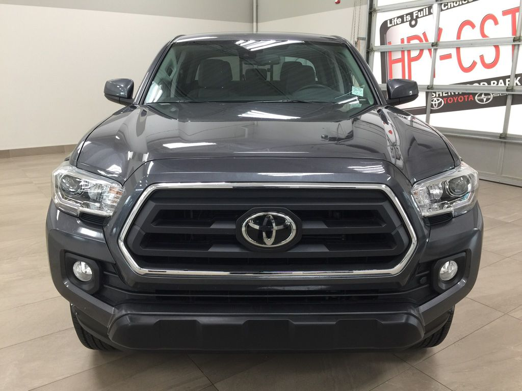 Gray[Magnetic Grey Metallic] 2020 Toyota Tacoma SR5 Front Vehicle Photo in Sherwood Park AB