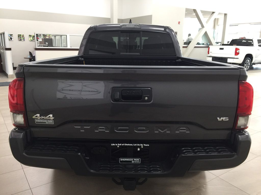 Gray[Magnetic Grey Metallic] 2020 Toyota Tacoma SR5 Rear of Vehicle Photo in Sherwood Park AB