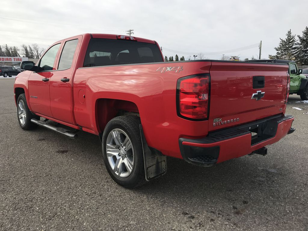 Red 2019 Chevrolet Silverado 1500 LD 4WD Double Cab Custom *Back-Up Camera**Bluetooth* Left Rear Corner Photo in Brandon MB