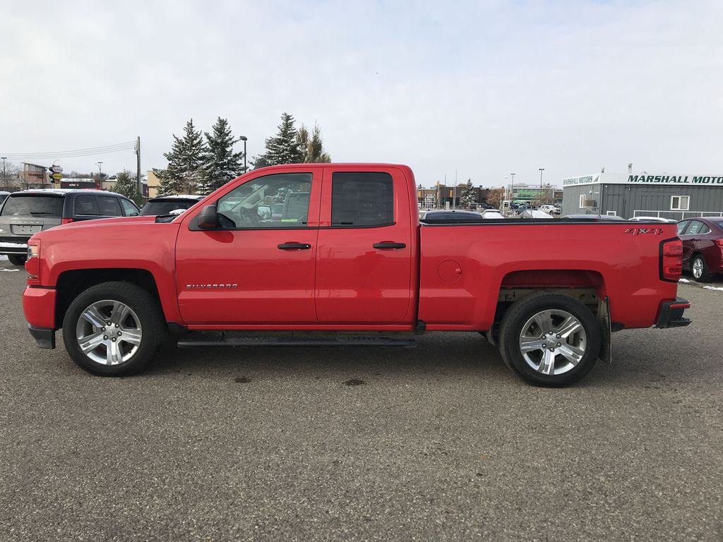 Red 2019 Chevrolet Silverado 1500 LD 4WD Double Cab Custom *Back-Up Camera**Bluetooth* Left Side Photo in Brandon MB