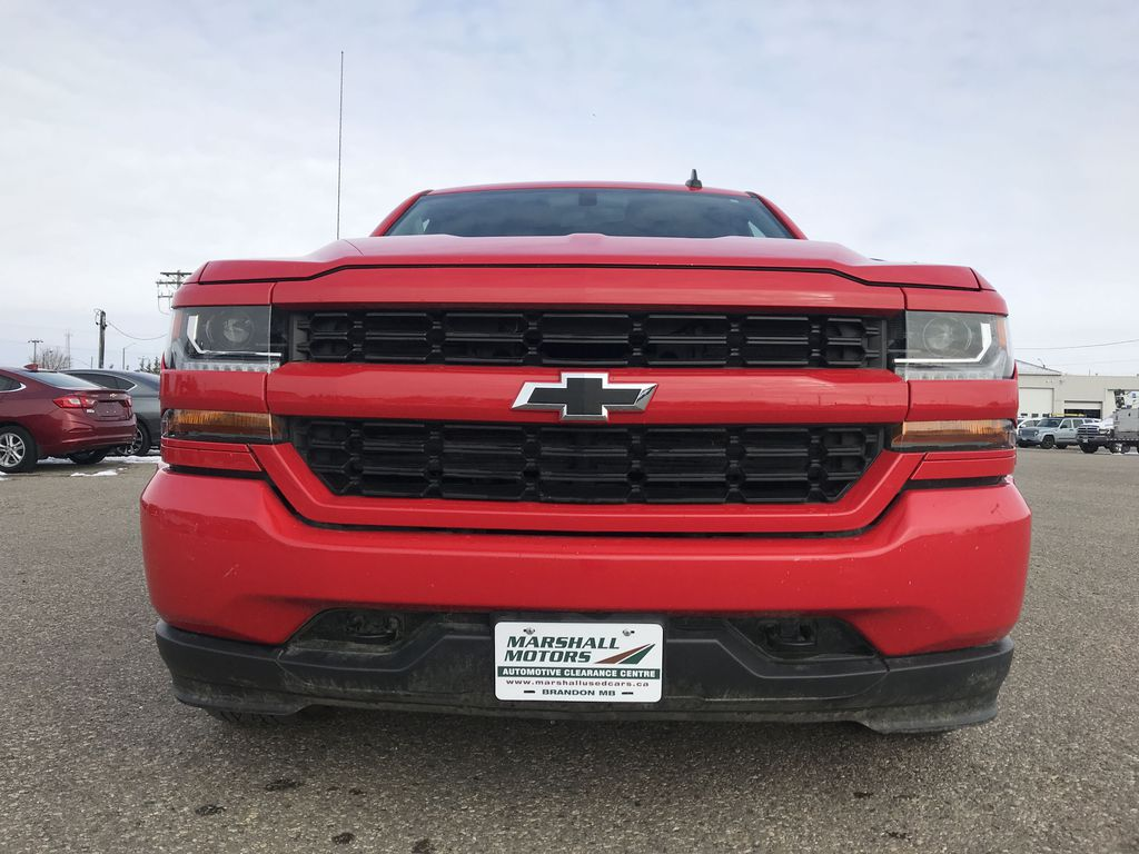 Red 2019 Chevrolet Silverado 1500 LD 4WD Double Cab Custom *Back-Up Camera**Bluetooth* Left Front Head Light / Bumper and Grill in Brandon MB