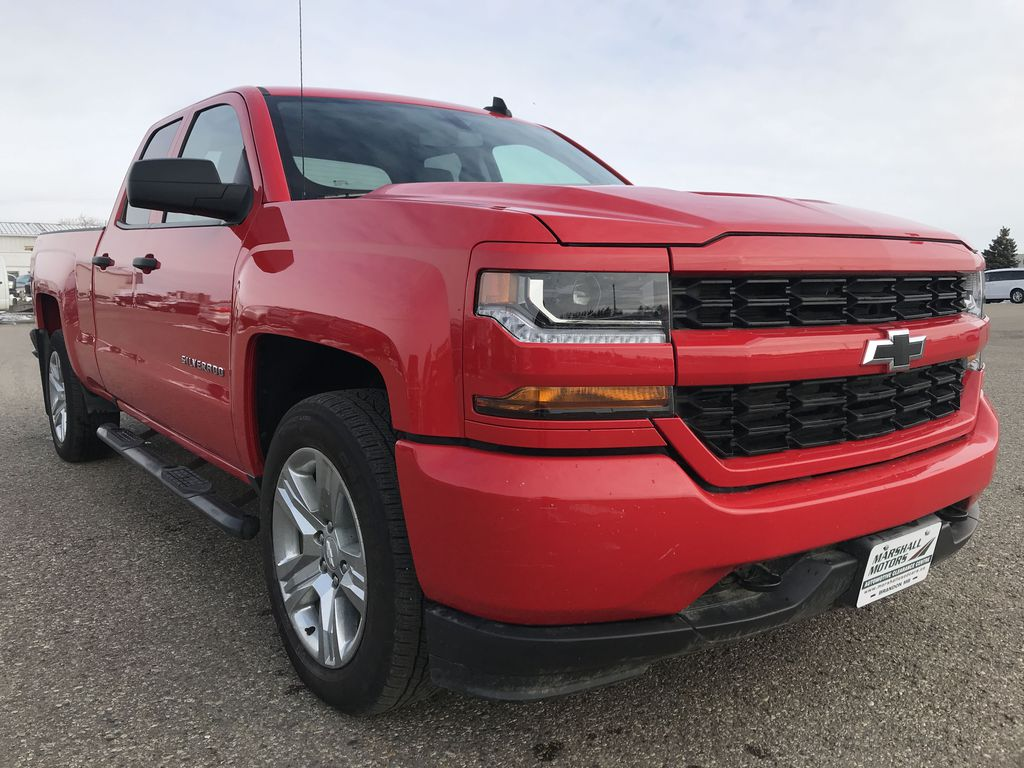 Red 2019 Chevrolet Silverado 1500 LD 4WD Double Cab Custom *Back-Up Camera**Bluetooth* Right Front Corner Photo in Brandon MB