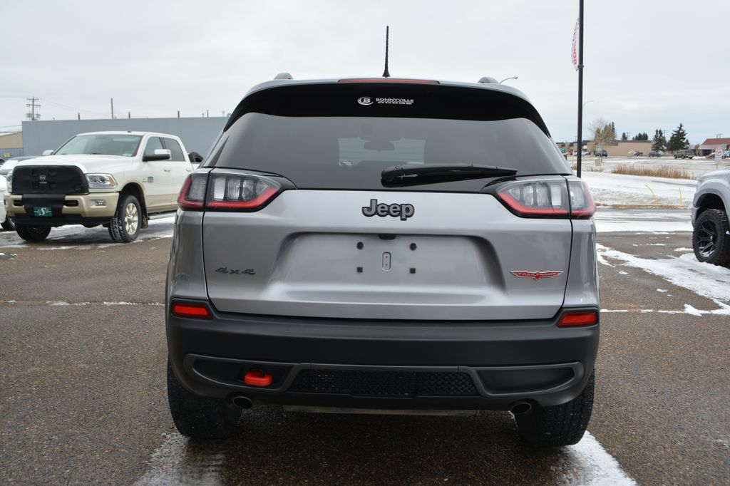 Silver 2020 Jeep Cherokee Rear of Vehicle Photo in Bonnyville AB