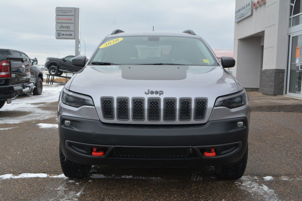 Silver 2020 Jeep Cherokee Front Vehicle Photo in Bonnyville AB