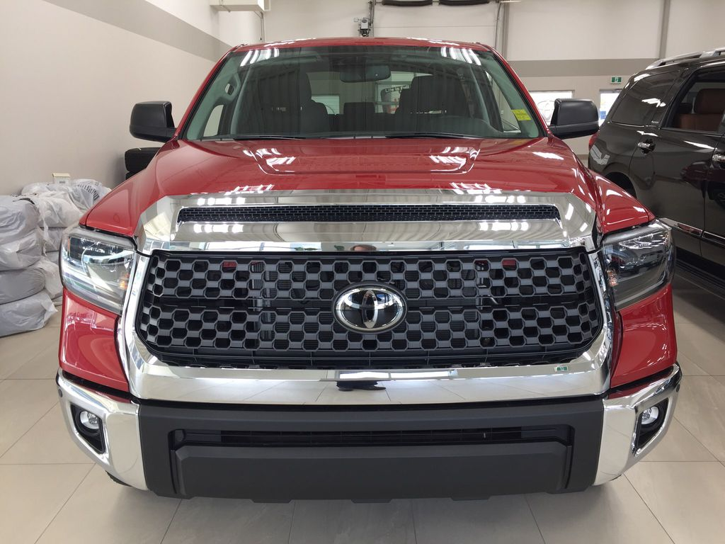 Red[Barcelona Red Metallic] 2021 Toyota Tundra TRD Off-Road Front Vehicle Photo in Sherwood Park AB