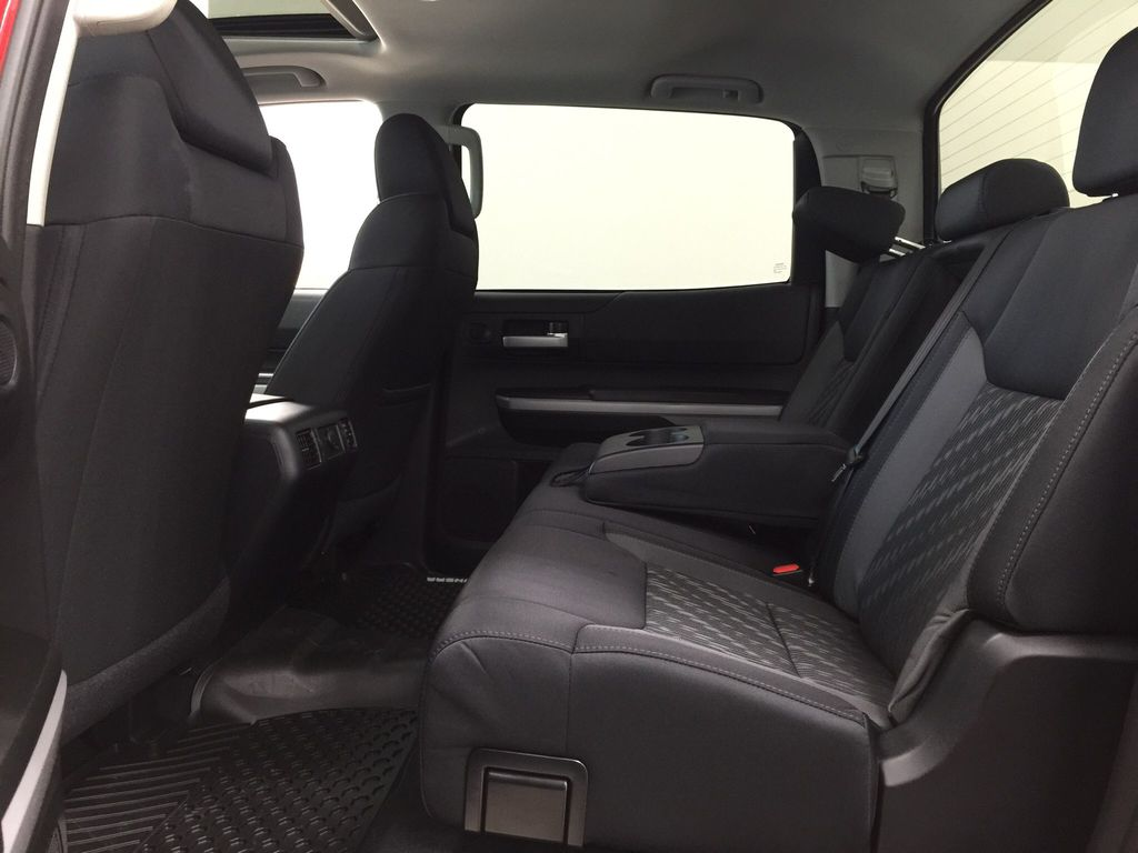 Red[Barcelona Red Metallic] 2021 Toyota Tundra TRD Off-Road Rear Seat Photo in Sherwood Park AB