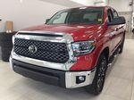 Red[Barcelona Red Metallic] 2021 Toyota Tundra TRD Off-Road Left Front Corner Photo in Sherwood Park AB