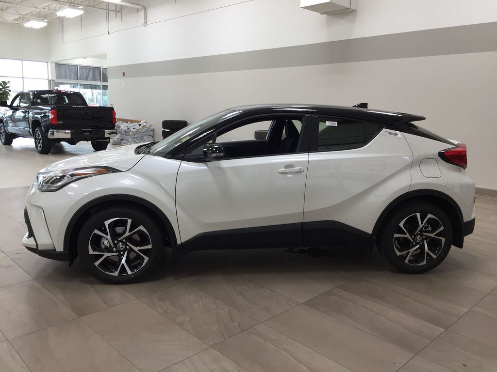 Black[Black Sand Pearl w/Silver Roof] 2021 Toyota C-HR XLE Premium Left Side Photo in Sherwood Park AB