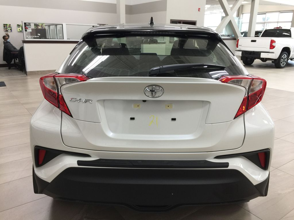 Black[Black Sand Pearl w/Silver Roof] 2021 Toyota C-HR XLE Premium Rear of Vehicle Photo in Sherwood Park AB