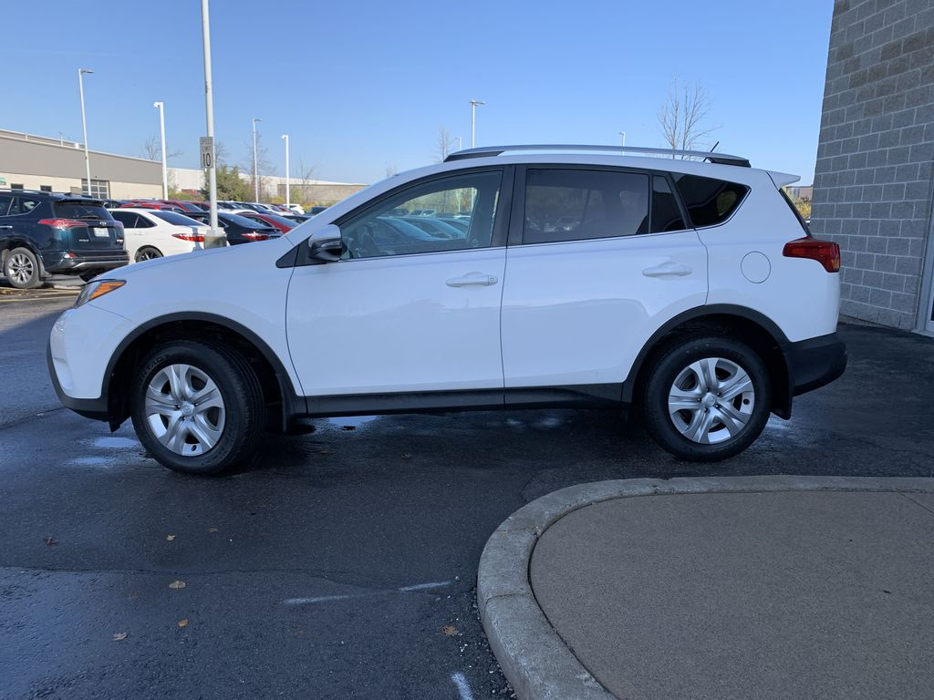 White 2015 Toyota RAV4 Left Front Rim and Tire Photo in Brampton ON