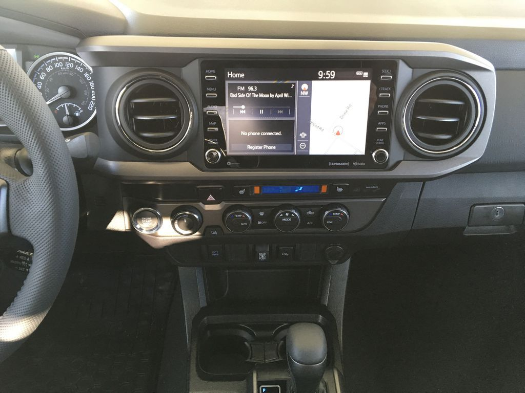 Gray[Cement] 2021 Toyota Tacoma TRD Off Road Central Dash Options Photo in Kelowna BC
