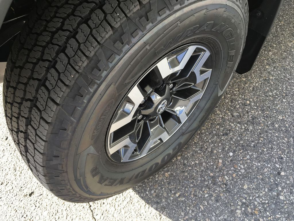 Gray[Cement] 2021 Toyota Tacoma TRD Off Road Left Front Rim and Tire Photo in Kelowna BC