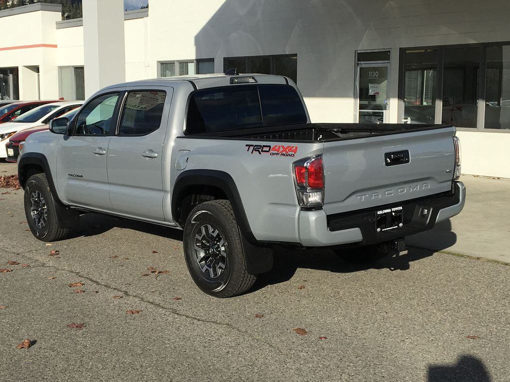 Gray[Cement] 2021 Toyota Tacoma TRD Off Road Left Rear Corner Photo in Kelowna BC