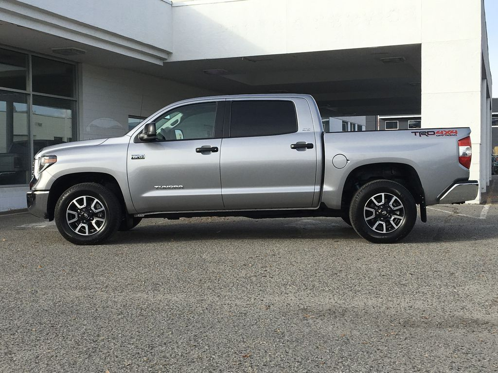 Silver[Silver Sky Metallic] 2019 Toyota Tundra TRD Off Road Left Side Photo in Kelowna BC