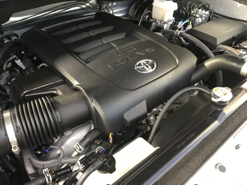 Silver[Silver Sky Metallic] 2019 Toyota Tundra TRD Off Road Engine Compartment Photo in Kelowna BC