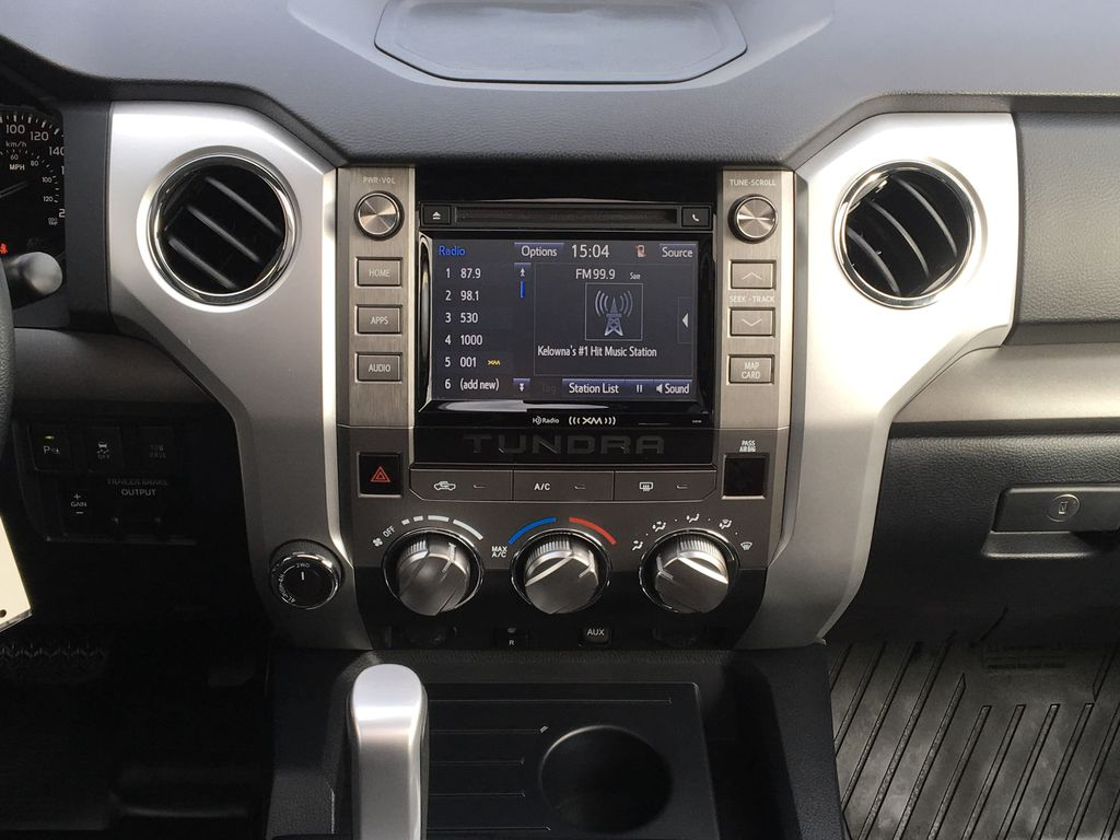 Silver[Silver Sky Metallic] 2019 Toyota Tundra TRD Off Road Central Dash Options Photo in Kelowna BC