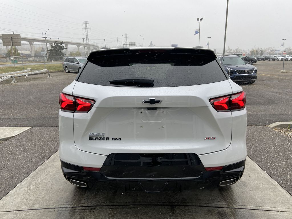 White[Iridescent Pearl Tricoat] 2021 Chevrolet Blazer RS Rear of Vehicle Photo in Calgary AB