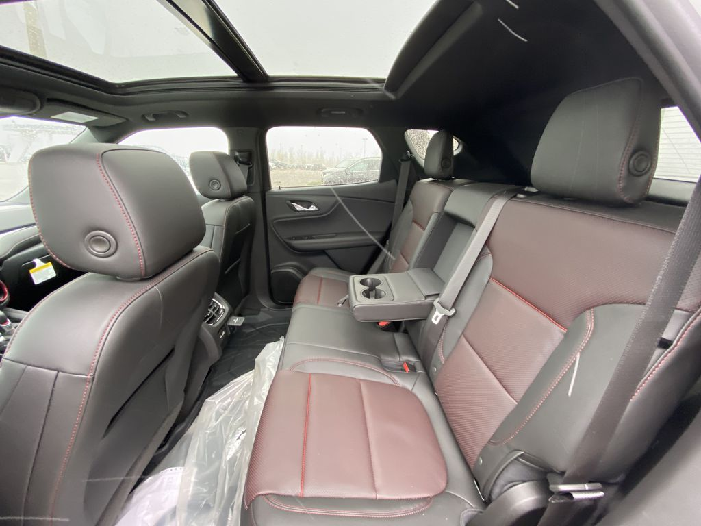 White[Iridescent Pearl Tricoat] 2021 Chevrolet Blazer RS Left Side Rear Seat  Photo in Calgary AB