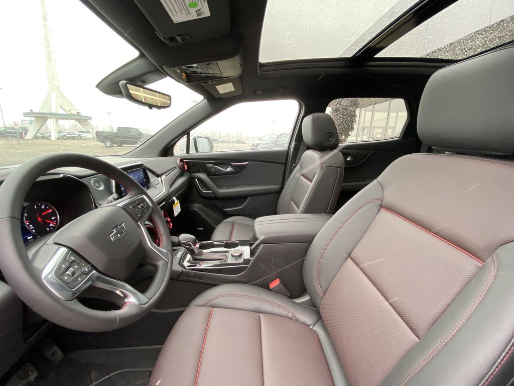 White[Iridescent Pearl Tricoat] 2021 Chevrolet Blazer RS Left Front Interior Photo in Calgary AB