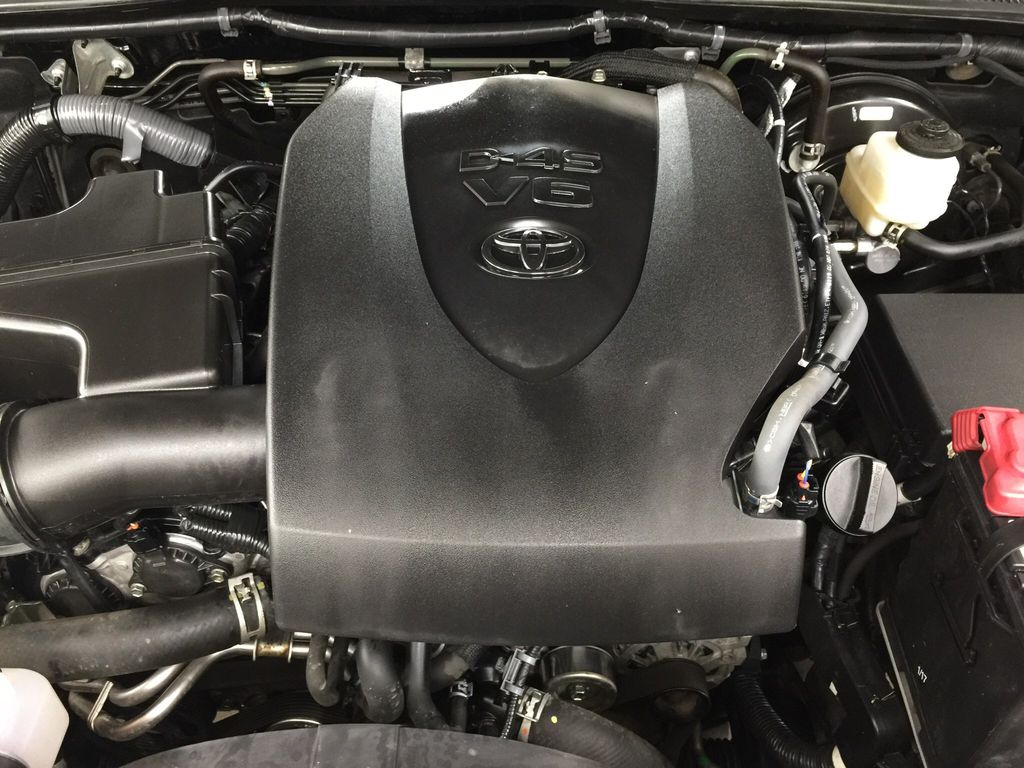 Black[Black] 2016 Toyota Tacoma TRD Sport Engine Compartment Photo in Sherwood Park AB