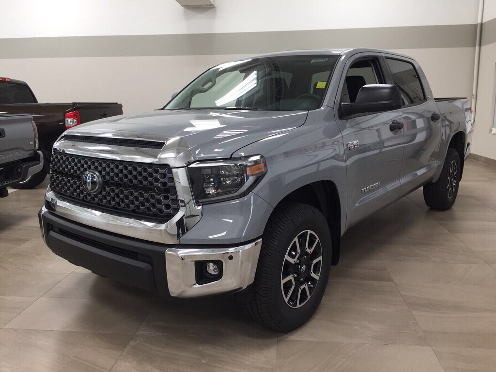Gray[Cement Grey Metallic] 2021 Toyota Tundra TRD Off-Road Left Front Corner Photo in Sherwood Park AB