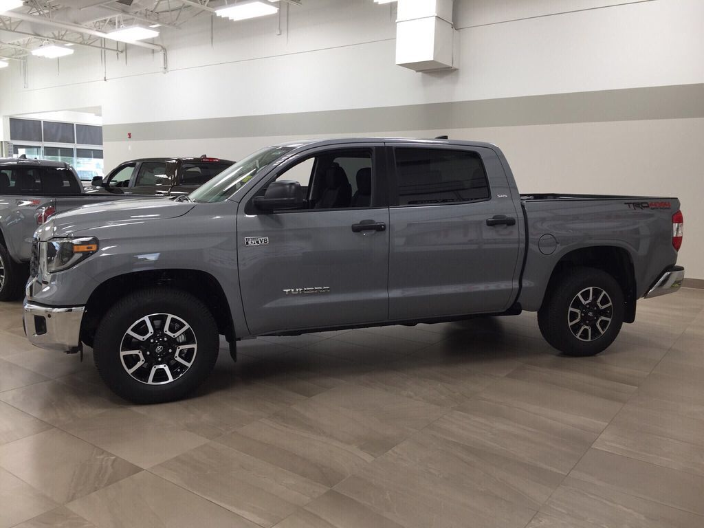 Gray[Cement Grey Metallic] 2021 Toyota Tundra TRD Off-Road Left Side Photo in Sherwood Park AB