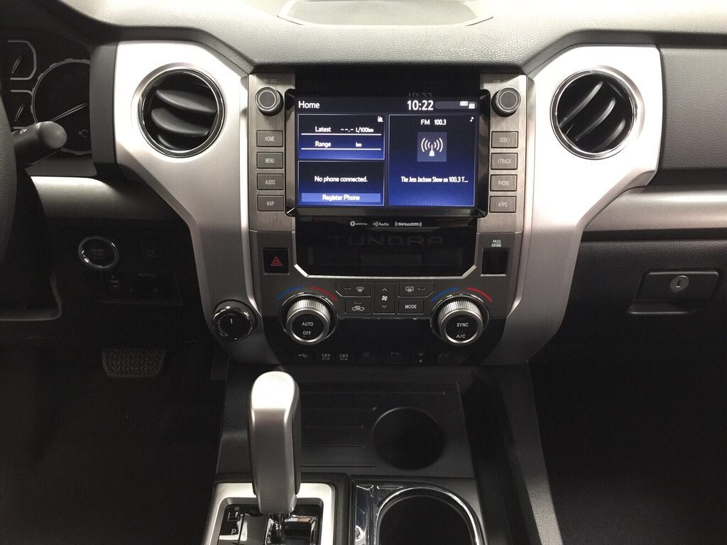 Gray[Cement Grey Metallic] 2021 Toyota Tundra TRD Off-Road Central Dash Options Photo in Sherwood Park AB