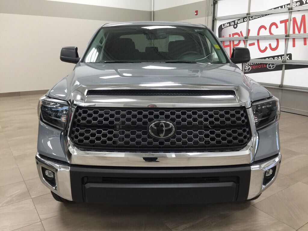 Gray[Cement Grey Metallic] 2021 Toyota Tundra TRD Off-Road Front Vehicle Photo in Sherwood Park AB