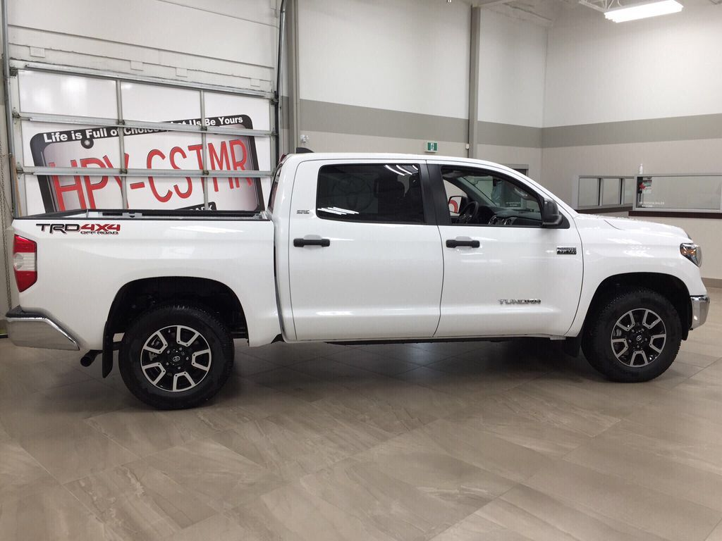 White[Super White] 2021 Toyota Tundra TRD Off-Road Right Side Photo in Sherwood Park AB