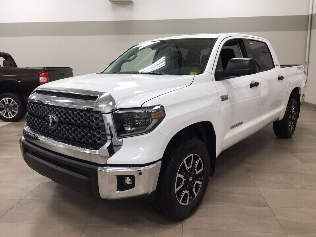 White[Super White] 2021 Toyota Tundra TRD Off-Road Left Front Corner Photo in Sherwood Park AB