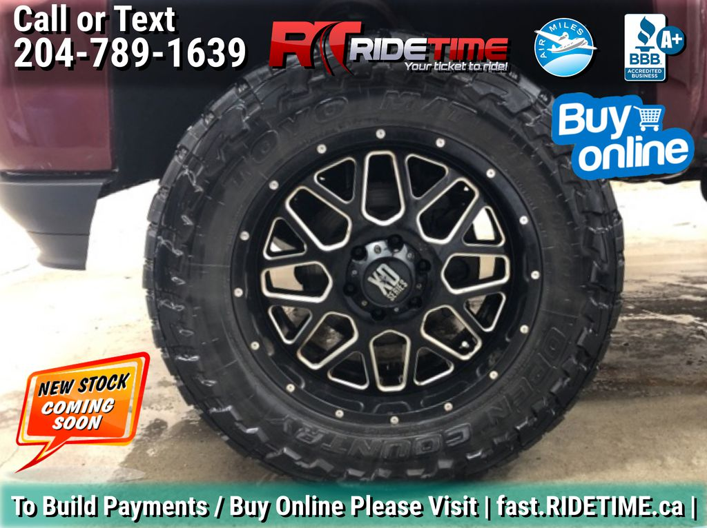 Red[Siren Red Tintcoat] Lifted 2016 Chevrolet Silverado 1500 LT Z71 4WD - Crew Cab, 5.3L Left Front Rim and Tire Photo in Winnipeg MB