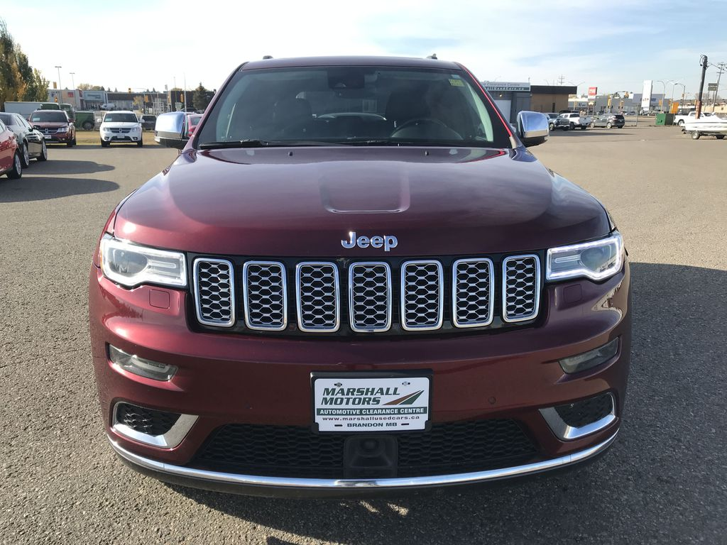 Red[Velvet Red Pearl] 2017 Jeep Grand Cherokee 4WD 4dr Summit *FULL LOAD* *67K MSRP* *Leather* Front Vehicle Photo in Brandon MB