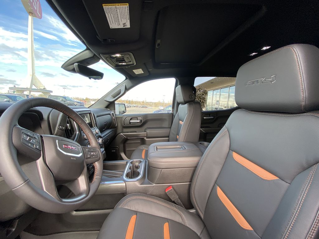 Gray[Satin Steel Metallic] 2021 GMC Sierra 1500 AT4 Left Front Interior Photo in Calgary AB
